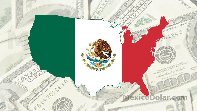 mexico dolar mapa dolares pais bandera